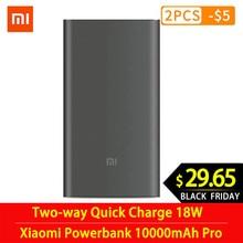 Original mi Xiaomi Power Bank 10000mAh Pro Type-C External B