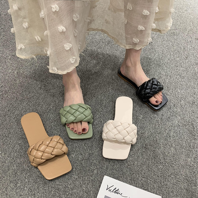 Braided Sandals And Slippers Female Ins-Music Of The Tide 2020 New Summer Outer Wear Beach Sandals