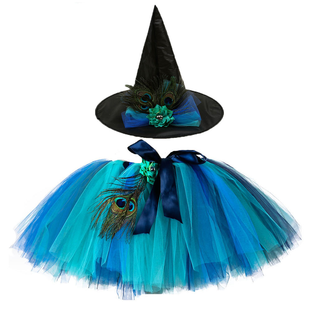 Tutu Dreams Witch Costume for Girls 2-14Y Tutu with Witch Hat Halloween Carnival Party