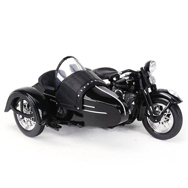 Maisto 1:18 1948 FL دراجة نارية sidecar دييكاست سبيكة نموذج دراجة نارية لعبة