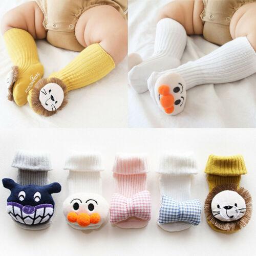 Baby Stockings Kids Cartoon 3D Animals Anti-slip Floor Stocks Slipper Tights Shoes Boots Floor Slipper Bowknot Stockings 0-3T