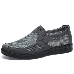 Image 3 - 新メンズカジュアルシューズ、男性夏スタイルメッシュフラット男性カジュアルハイエンド靴は非常に快適お父さんの靴