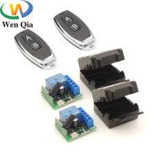 Universal controle remoto dc 12v 1ch rf 433 receptor de relé e transmissor para o controlador da porta \ interruptor de luz remoto \ controles remotos diy
