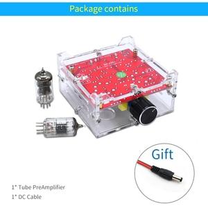 Image 5 - UNISIAN 6J1 מגבר לוח HIFI אלקטרוני מרה הצפת Preamp עם אקריליק תיבת AC12V עבור מגבר