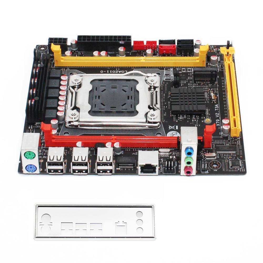 X79 motherboard LGA 2011 USB2.0 SATA3 Dual protocol m.2 support DDR3 REG ECC memory and Xeon E5 V1 V2 processor X79 V2.73 6