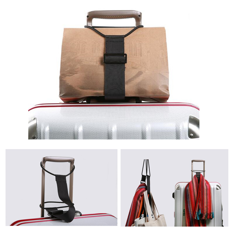 Elastic Adjustable Luggage Strap Carrier Strap Baggage Bungee Luggage Belts Suitcase Belt Travel Security Carry On Straps
