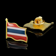Thailand Enamel Pin and Brooches Flag Lapel Pin 3D Waving Ornaments Brooch Badge 5pcs thailand metal lapel pin badge enamel front and butterfly clip collar pin