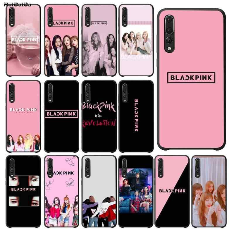 RuiCaiCa الأسود الوردي BLACKPINK kpop رسمت الهاتف حافظة لهاتف huawei P9 10 لايت P20 برو لايت P30 برو لايت Psmart زميله 20 برو لايت
