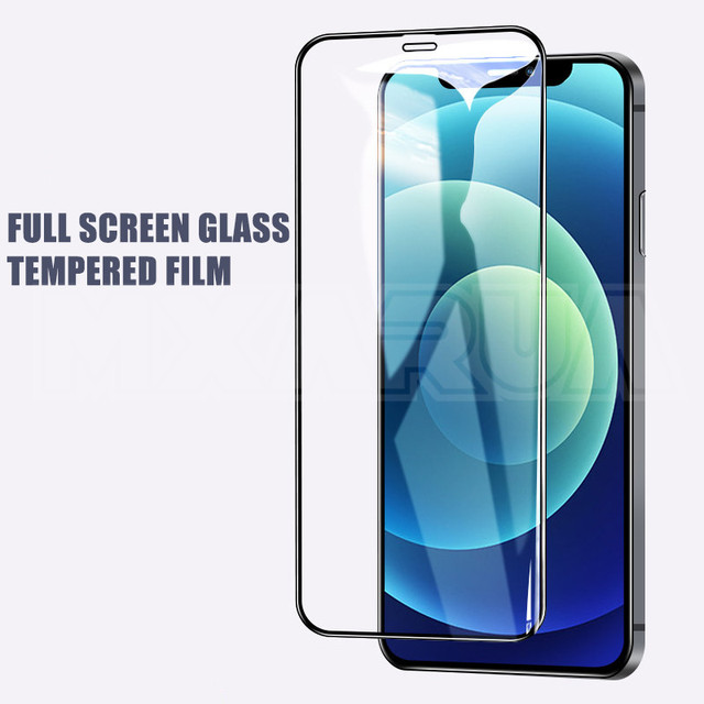 2000D Curved Protective Glass For iphone 6 6S 7 8 Plus SE Screen Protector on iphone X XR XS 11 12 Pro Max Tempered Glass case 2