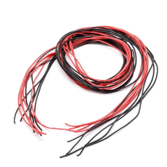 2020 חדש 1 סט 22AWG מד חוט סיליקון גמיש תקוע V # נחושת כבלי 5m אביזרי עבור RC שחור אדום