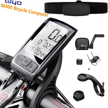GIYO M400 Bicycle Computer Mount Holder Bicycle Speedmeter Speed/Cadence Sensor With Magene HRM
