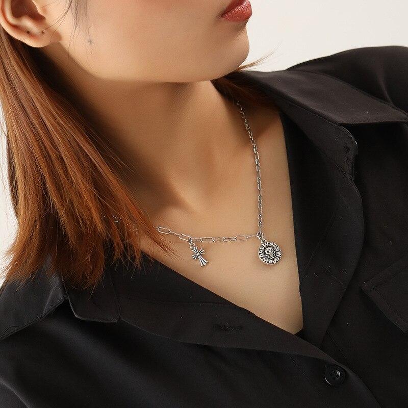 Купить leouerry серебро 925 пробы винтажное ожерелье с подвеской в