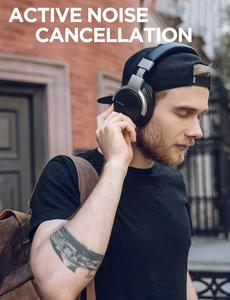 Image 5 - Mixcder E7 سماعة رأس لاسلكية HiFi نشط إلغاء الضوضاء بلوتوث V5.0 سماعة ANC سماعة أذن للهاتف