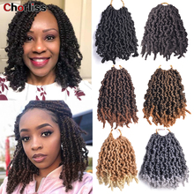 8inch Passion Ombre Hair Extension Crochet Spring Twist Crochet Braids Synthetic Braiding