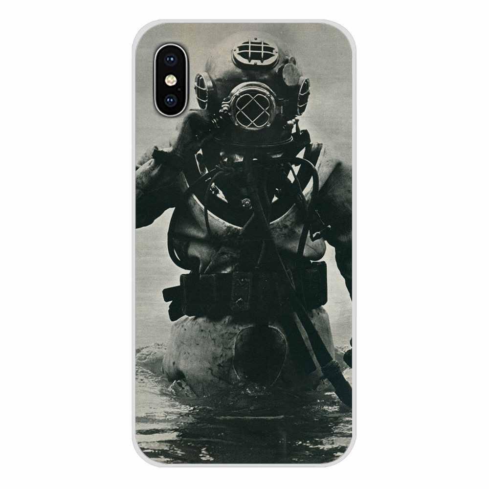 Anpassen Fall Für Huawei Nova 2 3 2i 3i Y6 Y7 Y9 Prime Pro GR3 GR5 2017 2018 2019 Y5II y6II Scuba Tauchen Helm Unterwasser Maske
