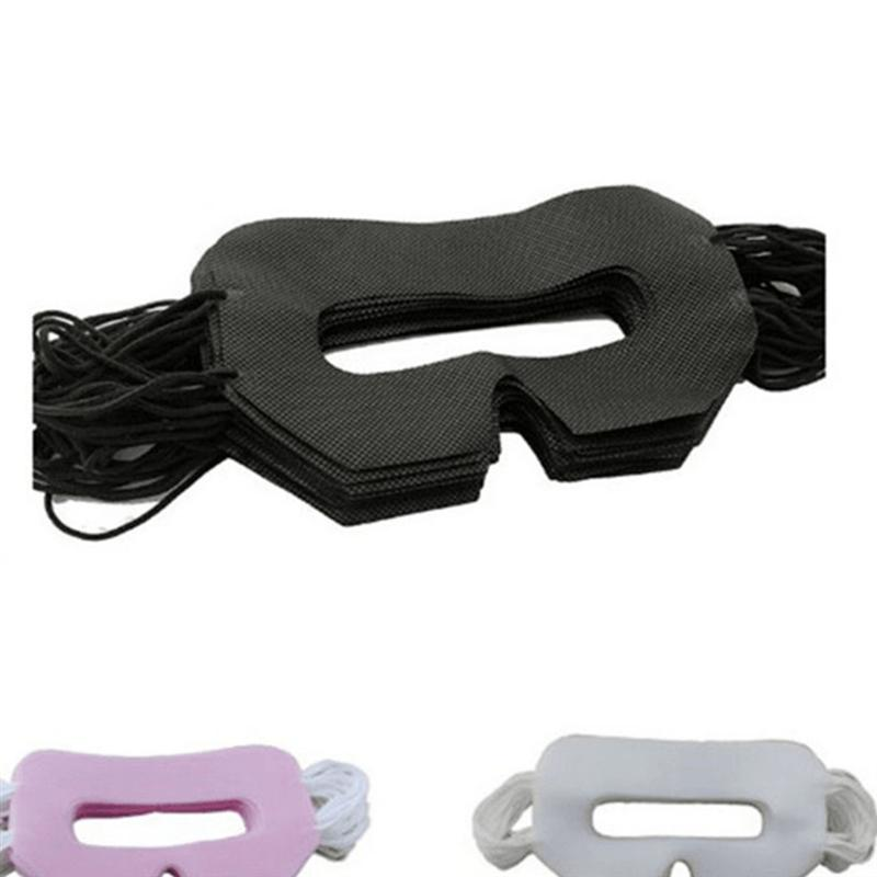 50 Pcs Disposable VR Glasses Mask Universal VR Device Cover Sanitary Pad VR Mask With Ear Loops  (Black)