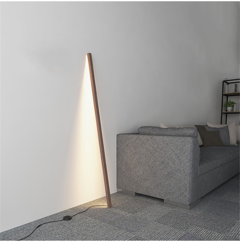 Minimal Wood Leaning Floor Lamp