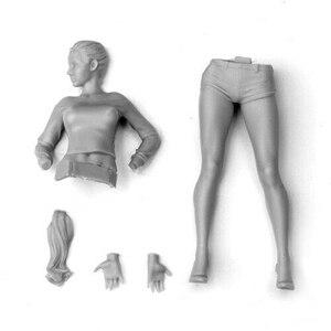 Image 3 - Soporte moderno para mujer con pelo (sin BASE), kit de figura de resina en miniatura, gk en miniatura, sin montar, sin pintar, 1/20