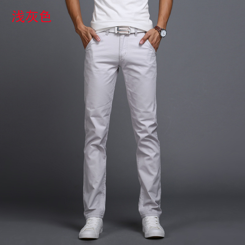 2019 Spring autumn New Casual Pants Men Cotton Slim Fit Chinos Fashion Trousers Male Brand Clothing 9 colors Plus Size 28-38 1