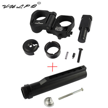 VULPO Tactical 6 Position Stock Pipe AR Folding Stock Adapter For M4 M16 Series Airsoft AEG GBB Hunting Accessories vulpo 3pcs lot high strength plastic double o ring air seal m4 nozzle cross style for airsoft aeg m4 hunting accessories