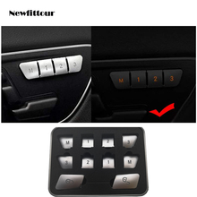 Car Styling Door Unlock Buttons Sequins Decoration CoverS Stickers Trim for Mercedes Benz C E Class W204 W212 Auto Accessories