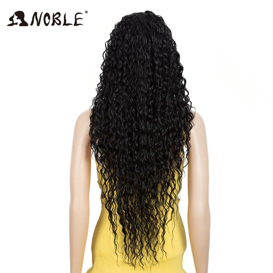 Cabelo nobre peruca sintética de renda longa
