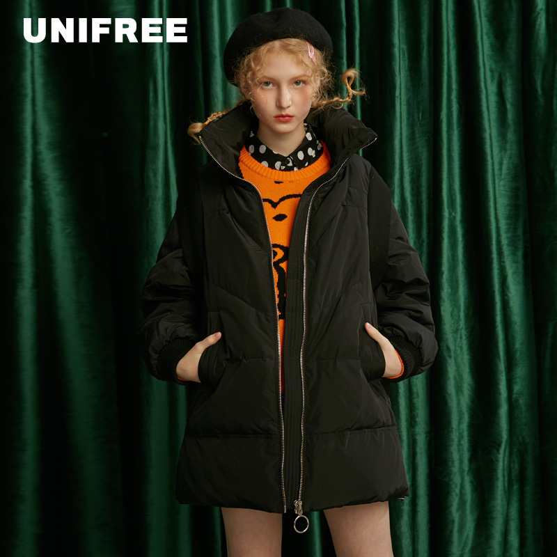 Unifree down jacket light, thin and solid color warm and comfortable coat new in winter 2019 U194Y030BG