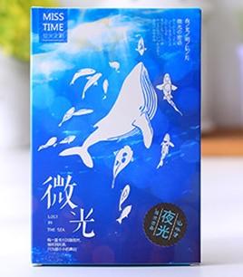 P183- Whale Light Paper Postcard(1pack=30pieces)