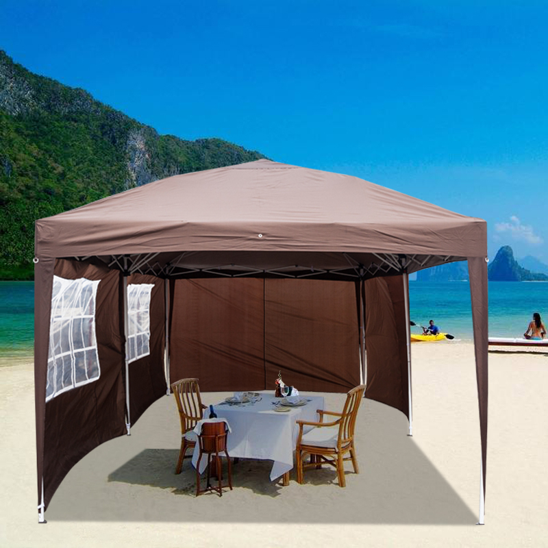 3 X 6m Two Windows Practical Waterproof Folding Tent Outdoor Garden Lawn Wedding Party Canopy Large Picnic Camping Tent