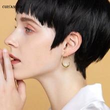 womens  pearl stud earrings 2019 silver golden ear hook Korean dangling fashion jewelry wedding trendy