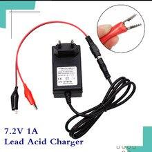 7.2V 1A ładowarka do akumulatora kwasowo ołowiowego do skutera samochodowego motocykl 6V akumulator kwasowo ołowiowy 7.4V ładowarka