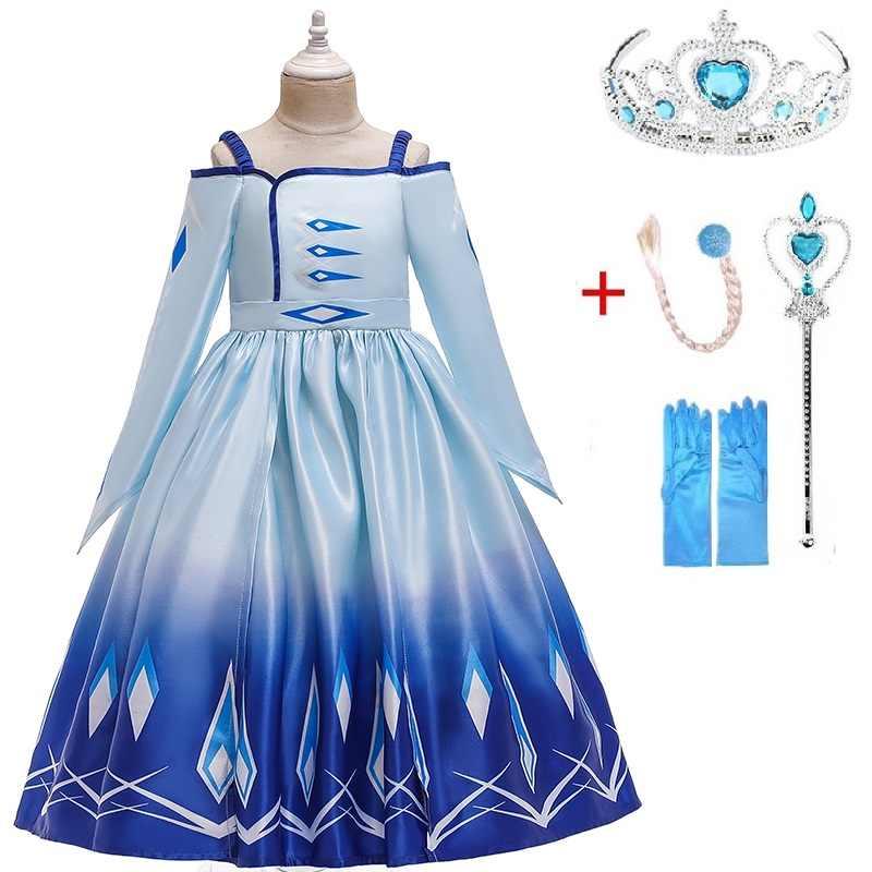 Disfraz De Niña En Navidad 3 12y Teens Girl Dream Elsa Vestido De Fiesta De Cumpleaños Para Niños Anna Vestido De Niña Formal De Baile De Graduación
