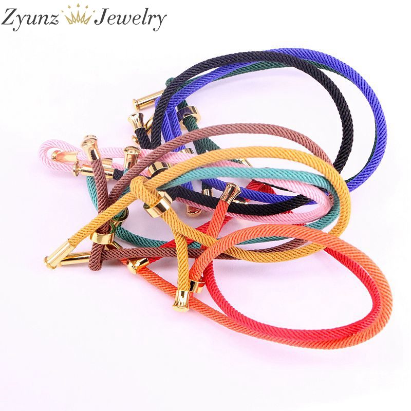 20PCS, Waxed Thread Cotton Cord String Strap Bracelet For Making Jewelry Findings