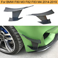 Углеродное волокно передний бампер Боковые ребра Canards для BMW F80 M3 F82 F83 M4 2014-2018 передние разделители лезвия ребра Canards 6 шт./компл.