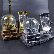 New Vintage Tower Hourglass Snow Globes Glass Music Box Home Desktop Decoration Party Festival Birthday Gifts