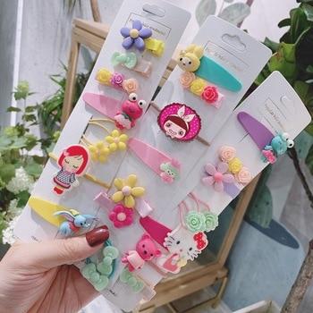 8/5Pcs/Set girls accessories hair ornament cartoon acrylic pattern lovely shape circle childrens headdress