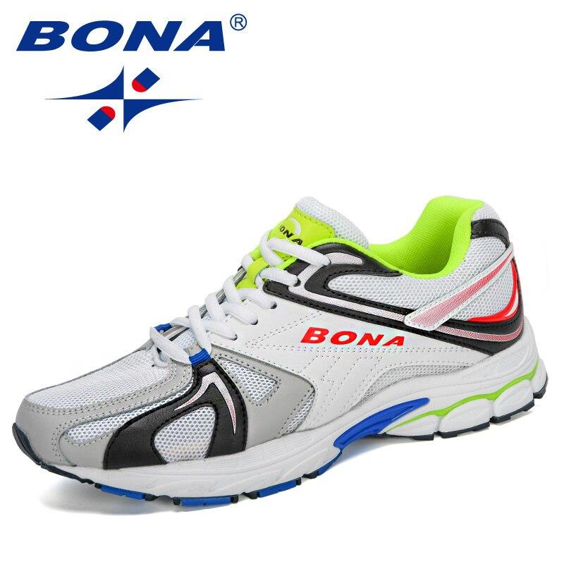 BONA 2020 кроссовки для мужчин Zapatillas Deportivas Hombre дышащие Sapato Masculino Krasovki Мужская обувь Повседневная Zapatos De Hombre