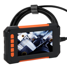HD 1080P 4.3'' Colorful Display Inspection Camera Handheld 8mm Endoscope Camera Waterproof Borescope Endoscope With 8 LED Lights