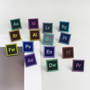 Colour Adobe Design Software PS AI LR AE PR Photoshop Enamel Lapel Cool Pins Badges Brooches For Artists Friend Gift Jewelry