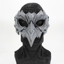 The Japanese Dragon God Mask Half Face Resin Bird Punk Mask for Party Cosplay Mask