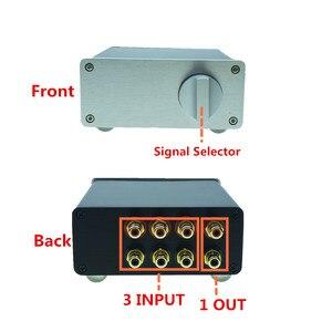 Image 2 - HIFI السلبي إدخال الصوت إشارة محدد مصدر محدد الصوت إشارة الجلاد صندوق الصوت إشارة الخائن 3 في 1 خارج/3 طرق في