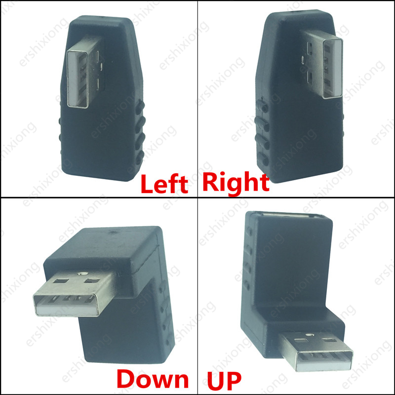 Computer Cable Adapter USB M/F 90 Degree Adapter Male To Female Rigth Angle UP / Down / Left / Right