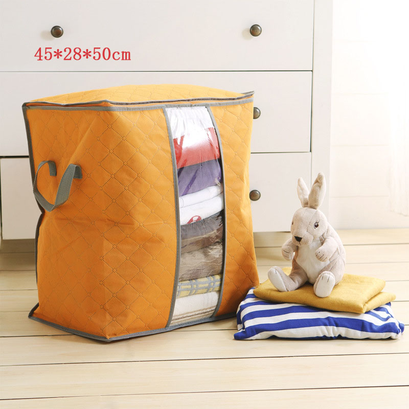 2019 Travel Bag Portable Duffle Bag Organizer Non Woven Underbed Pouch Packing Cubes Box Bamboo Clothing Luggage Bag