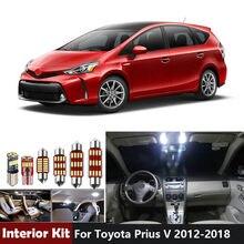 Paquete de Luces LED para Interior de coche Canbus para Toyota Prius V, bombillas para espejo de tocador, domo, mapa, 2012- 2016, 2017, 2018, 10 Uds.