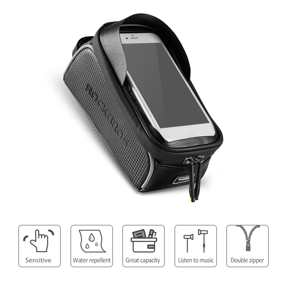 Flash Deal Bike Phone Bag Top Tube Bag Cycling Front Frame Bag Phone Holder Touch Screen Bike Phone Pouch Front Pannier Case 4