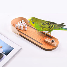 Parrot Wood Puzzle Training Toy Bowling Toy Bird Supplies Parrot Training Toy Pet Desktop Toys Wholesale Accessories #3(China)