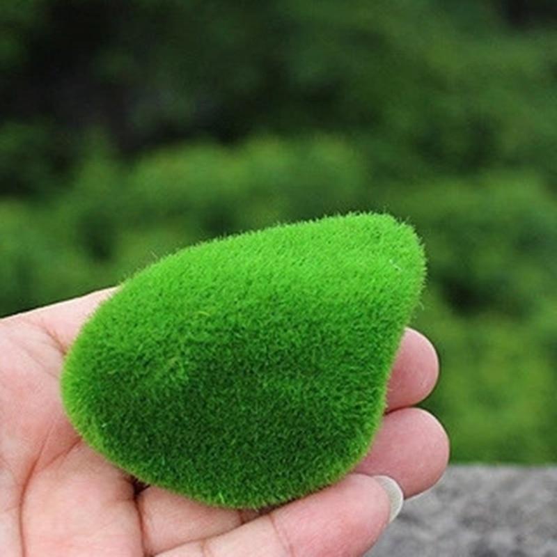 12Pcs Green Artificial Moss Stones Simulation Grass Garden DIY Landscape Decor B