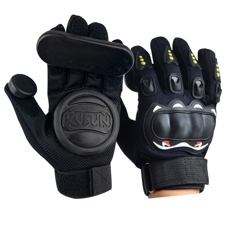 Long Board Gloves Skateboard Turn Slide Highway Board Gloves Downhill Brake Gloves Palm Finger Slider