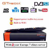 GTmedia V8 NOVA Gleiche wie Freesat V8 V9 Super DVB S2 Satellite TV Empfänger Rezeptor Decoder + 2 Jahr 7 linien Europäischen Cccam linien