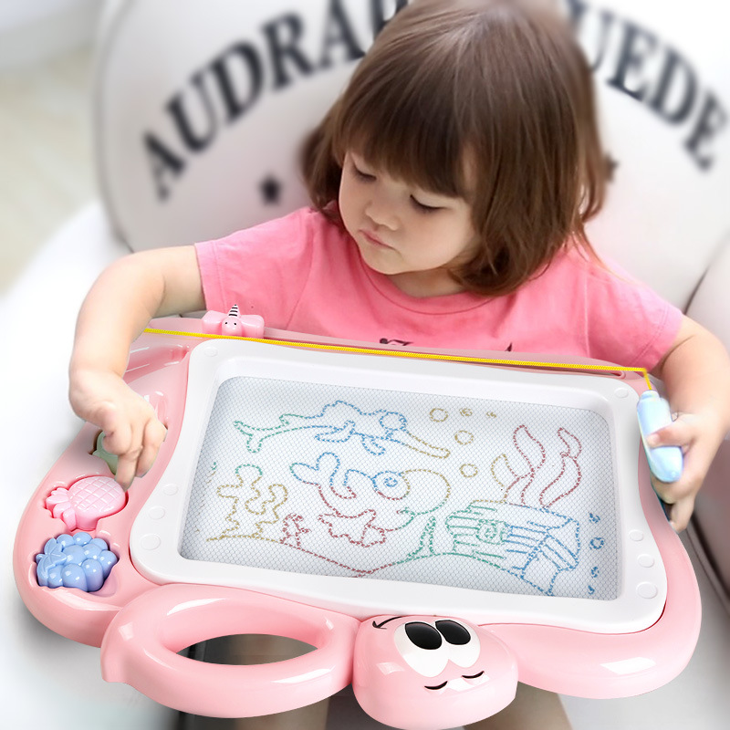 Color Kids CHILDREN'S Magnetic Baby Doodle Board 1-3 Years Old ~ Doing Homework Sketchpad Magnetic Er Tong Ban Pen Whether